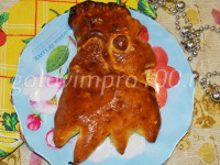 Пирог с яблоками «Петушок»