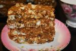 Торт-безе с заварным кремом на желтках
