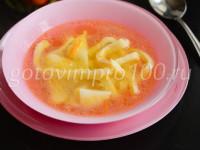 Суп лапша с курицей