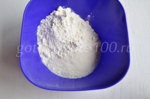 соединим муку и сахар