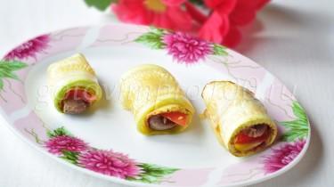 Рулеты из кабачков рецепт