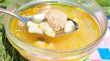 суп с фрикадельками и вермишелью рецепт с фото