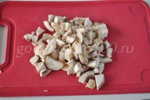 нарежем грибы