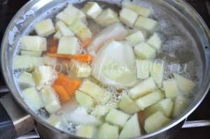проварим суп с овощами