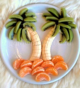 нарезка из бананов