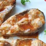 Толстолобик тушеный в томатно-соевом соусе