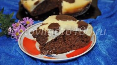 Творожный пирог с какао в мультиварке