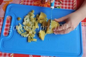 нарежу картофель
