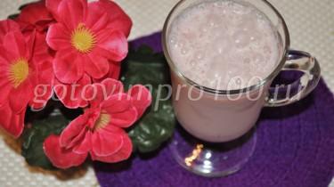 молочный коктейль с вареньем