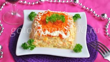 салат с консервированными кабачками