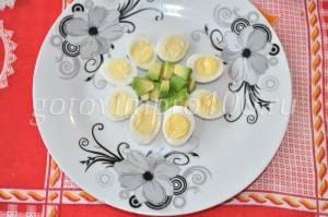 выложите авокадо