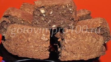 шоколадный пирог с грецкими орехами