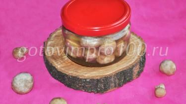 шампиньоны маринованные на зиму рецепт с фото
