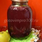 Компот «Ассорти» из яблок, малины и черной смородины
