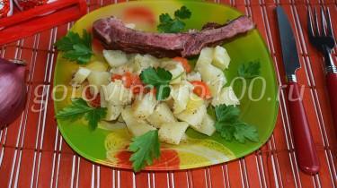 картофель с ребрышками рецепт