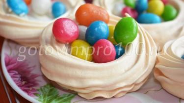 пирожные гнезда