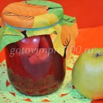 Малиновый компот с яблоками