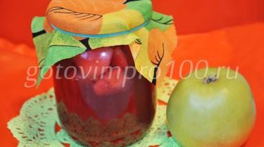 компот из малины и яблок