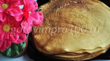 блинчики на кефире рецепт с пошаговыми фото