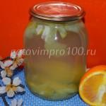 Цитрусовый компот из апельсин и яблок