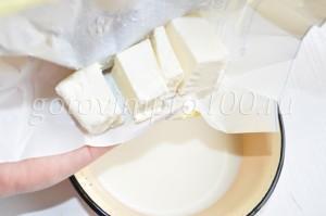 добавьте масло в молоко