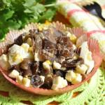 Необычный салат с морскими грибами