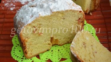 кекс творожный в хлебопечке рецепт