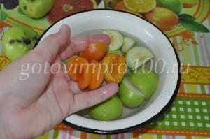 выложите абрикосы