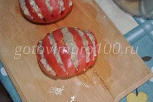 наполните помидоры