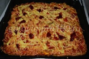 отправьте пиццу в духовку