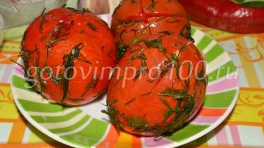 малосольные помидоры быстрого приготовления в пакете