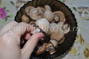 вымоем грибы