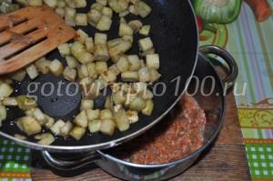 соединим баклажаны и перец