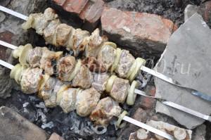 обжарим мясо