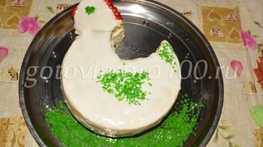 торт в виде петушка рецепт с фото