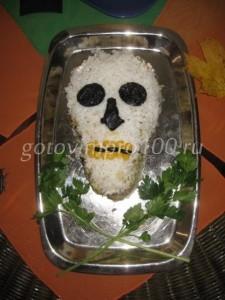 салат в виде ечерепа