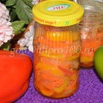 Салат из моркови, перца и помидор