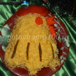 Салат из печени «Петушок»