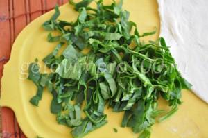 нарежем шпинат