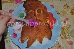 смажем пирог