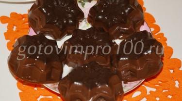 шоколадное желе из какао и молока