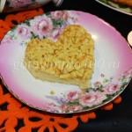 Тертый пирог с медом в виде сердца