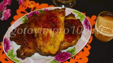 куриные бедра в томатном соусе в духовке