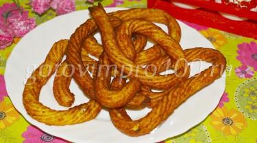 картофельные спиральки из пюре