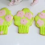 Печенье в виде букетов цветов
