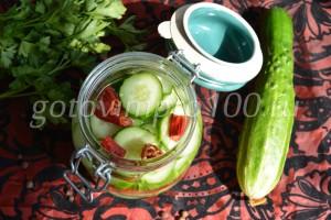 выложим овощи