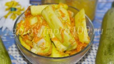 салат из кабачков с майонезом