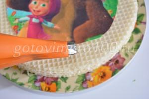 украсим верх торта