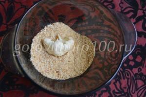Выложим капусту в сухари