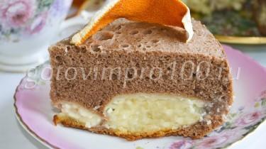 Бисквит с творогом рецепт с фото